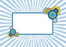 голубая рамка Стоковые Изображения RF