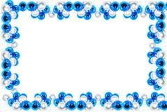 голубая рамка chistmas Стоковая Фотография