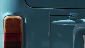 Голубая ретро шина сток-видео