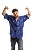 голубая рубашка серии ванты Стоковые Изображения