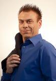 голубая рубашка человека платья дела Стоковое фото RF