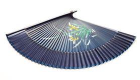 голубая рука вентилятора стоковое изображение