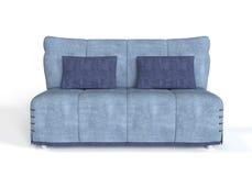 голубая самомоднейшая софа Стоковая Фотография RF