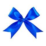 голубая сатинировка подарка смычка Стоковое Изображение
