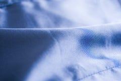 голубая сатинировка ткани мягкая Стоковые Изображения RF