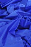 голубая сатинировка ткани Стоковые Фотографии RF