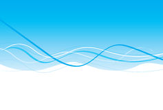 голубая световая волна конструкции Стоковая Фотография