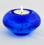 голубая свечка Стоковые Фото