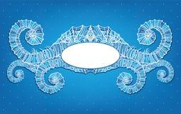 голубая сделанная по образцу мозаика рамки Стоковая Фотография RF