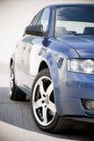 голубая семья автомобиля Стоковое Изображение RF