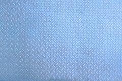 Голубая серая pattered предпосылка нержавеющего металла стальная ромбовидная поверхностная стоковое фото