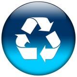 голубая сеть иконы Стоковая Фотография RF