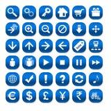 голубая сеть икон Стоковые Фото