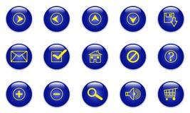 голубая сеть икон Стоковое Изображение