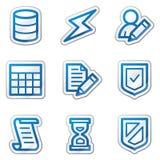 голубая сеть стикера серии икон базы данных контура бесплатная иллюстрация