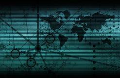 голубая сеть технологии Стоковое фото RF