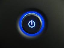 голубая сила кнопки Стоковые Изображения RF