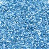 Голубая сияющая текстура, sequins с предпосылкой нерезкости Стоковые Изображения
