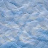 голубая скомканная бумажная белизна текстуры Стоковое Фото