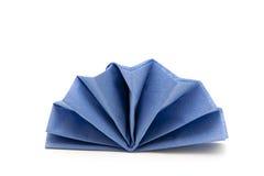 голубая сложенная салфетка Стоковые Изображения