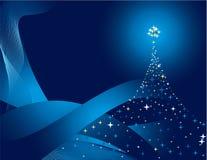 голубая сосенка Стоковое Изображение