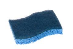 голубая соскабливая губка стоковая фотография rf