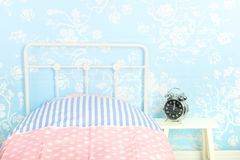 Голубая спальня стоковые фото