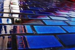 голубая стена Стоковая Фотография RF
