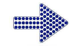 Голубая стрелка Стоковое Фото