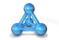 голубая структура молекулы Стоковые Изображения