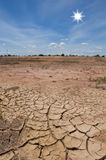 голубая сухая почва неба Стоковая Фотография