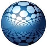 голубая сфера отражений 3d Стоковые Изображения RF