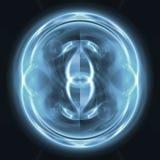 голубая сфера иллюстрация вектора