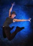 голубая танцулька Стоковые Фото