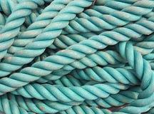 голубая текстура веревочки Стоковые Изображения RF