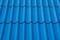 голубая текстура крыши Стоковые Изображения RF