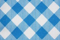 голубая текстура решетки ткани Стоковое Изображение