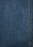 голубая текстура джинсовой ткани Стоковое Изображение
