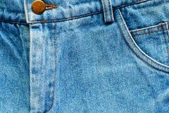 Голубая текстурированная джинсовая ткань, крепкая ткань демикотона twill хлопка Стоковое Фото