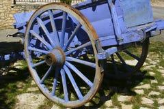 голубая тележка деревенская Стоковое Фото