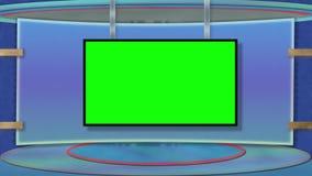 Голубая тематическая студия ТВ с greenscreen бесплатная иллюстрация