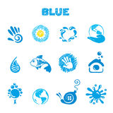 голубая тема Стоковые Изображения RF