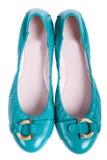 голубая темная женщина платья Стоковая Фотография
