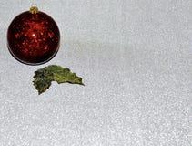 голубая тень орнамента иллюстрации цветка рождества украшения рождества красные Стоковая Фотография