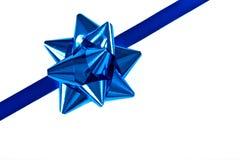 голубая тесемка рождества граници Стоковая Фотография
