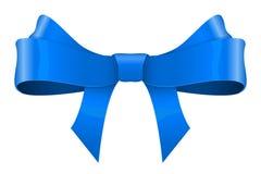 голубая тесемка смычка иллюстрация вектора