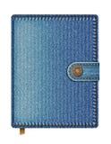 голубая тетрадь джинсовой ткани Стоковые Изображения