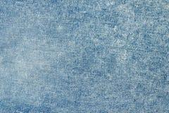 Голубая ткань джинсовой ткани конец вверх Стоковая Фотография RF