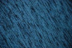 голубая ткань крупного плана Стоковые Изображения RF