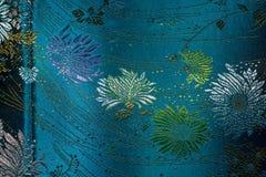 голубая ткань Стоковое Фото